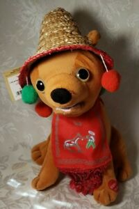 "Chantilly Lane 10"" Pancho Animated Sings Feliz Navidad Pre-owned With Tags"