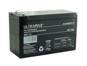ULTRAMAX NP7-12, 12V 7Ah Sealed Lead Acid - AGM - VRLA Battery