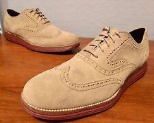 Cole Haan Original Grand Wingtip II Suede Oxfords Shoes 7 Milkshake Brick C21132