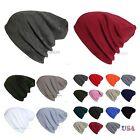 Men Women Knit Plain Beanie Cap Ski Hat Solid Casual Winter Hats Hip Hop Caps