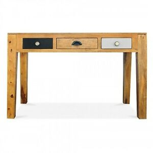 Made to Order Vivid Solid Mango wood Console Hall table Study computer Desk 1.3m