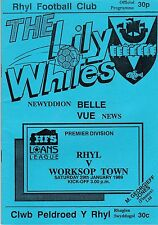 RHYL V WORKSOP TOWN   NORTHERN PREMIER LGE 29/1/89