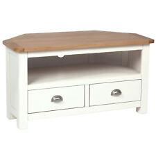 Millbrook Cream Painted Corner TV Unit / Oak Cabinet / Solid Wood / TV Stand NEW