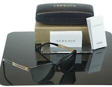Authentic Versace Rock Icons Vani Black Gold Metal Sunglasses Ve 4307 Gb1/87