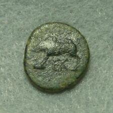 Phrygia, Laodikeia ad Lycum, AE 16, 100-1 BC, Boar / Wolf, VF