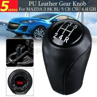 🔥 5 Speed Gear Shift Knob Stick Shifter For Mazda 3 5 6 CX-7 MX-5 CX7 MX5 Black