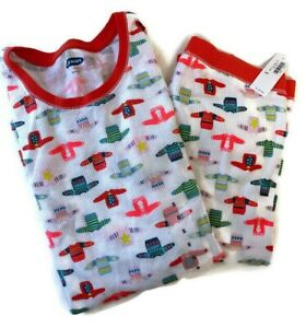 NWT Old Navy Christmas Sweater Thermal Waffle Pajamas Set Shirt/Leggings XS/S