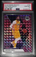2019-20 Panini Mosaic ANTHONY DAVIS #18 Pink Camo PSA 10 Los Angeles Lakers