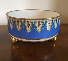 Antique Elite Limoges Porcelain Bowl Aesthetic Movement Signed Hand Painted 1910