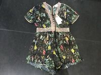 NWT Foxiedox New & Gen. Ladies Small UK 8/10 Floral Short Sleeved Romper FA388RP