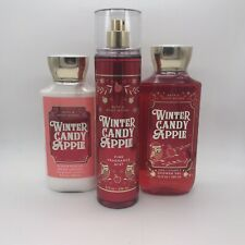 SET OF BATH & BODY WORKS WINTER CANDY APPLE SHOWER GEL/LOTION/BODY MIST