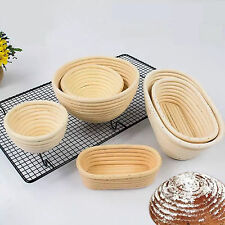 Round Oval Long Baguett Banneton Bortform Bread Dough Proofing Rattan Basket