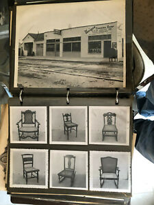 Vintage Chair Caning Co. Photo Album w/ over 250 Orig. Pics of Cane Chairs!