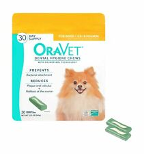 OraVet Dental Hygiene Chews for X-Small Dogs, 30 Count