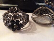 bracelet oriental caftan mariage takchita soiree bijoux Ethnique Noir