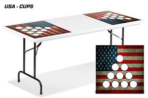 Universal Boardgame Folding Table Top Games Decal Sticker Beer Pong Mats USA