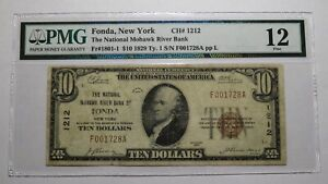 $10 1929 Fonda New York NY National Currency Bank Note Bill Ch. #1212 F12 PMG