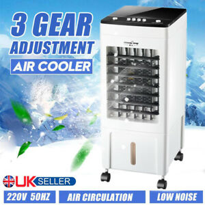 8L Mobile Air Cooler Conditioner Portable Humidifier Ice Cooling Fan Floor Wheel