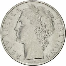 [#420062] Italy, 100 Lire, 1958, Rome, AU(55-58), Stainless Steel, KM:96.1