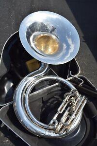 Jupiter JHS-590 BBb Sousaphone - Silver Finish, 4 Valve