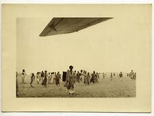 Syrie : Les enfants de Damas à l'arrivée du vol Air Orient - Photo vintage 1932