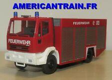 Camion Iveco Eurofire Pompier / Feuerwehr Rüstwagen RW2 HO 1/87 Wiking