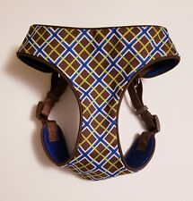 New Without Tags Top Paw Comfort Dog Walk Harness Size M Medium Brown Blue Plaid
