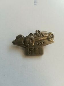 1967 indy 500 Pit Badge - Silver