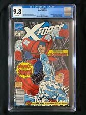 X-Force #10 CGC 9.8 (1992) - ULTRA RARE Newsstand - Deadpool app