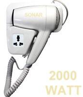 Asciugacapelli 2000 W. Phon capelli,fono asciuga da parete,muro,albergo,hotel
