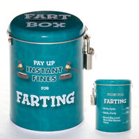 Farting Novelty Fine Tin Fun Money Storage Lockable Piggy bank Savings Jar Gift