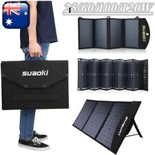 Foldable Solar Panel Charger for Suaoki Portable Generator Phone Car Charger USB