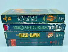 4 Horror Movies- Blair Witch - Frighteners - Sixth Sense - Dusk Till Dawn(Vhs)