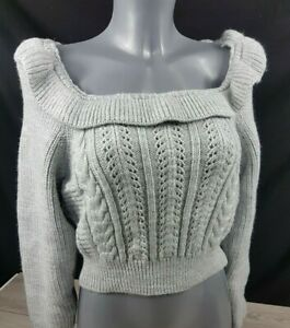 Miss Selfridge Petite jumper frill detail square neck sweater GREY All Sizes B16
