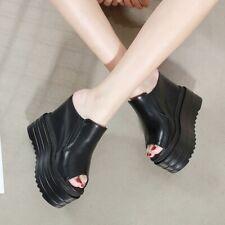 Fashion Women Sandals Comfort Slippers Open Toe Platform Hidden Wedge Heel Shoes