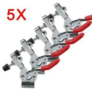 5x Kniehebelspanner Set 225-D Zwingen Spannwerkzeuge Haltekraft Werkzeug 227Kg