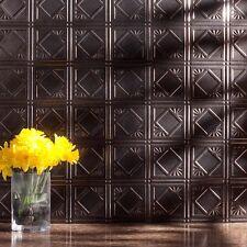 Kitchen Backsplash Decorative Vinyl Panel Wall Tiles Bathroom Bath Plastic Metal