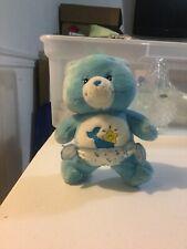 Vintage 2002 Care Bears Blue Baby Tugs Cute Plush Stuffed Animal