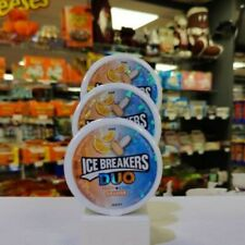 Ice Breakers Mints Duo Orange 1.3oz (36g) x 3 Tubs. USA Import