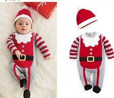 2PCS Kids baby Boys newborn bodysuit+hat baby kids Boys clothes Christmas Set