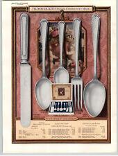 1925 PAPER AD 2 PG Tudor Plate Silverware Baronet Pattern COLOR