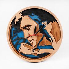 Elvis Presley Wood Clock Music Art King of Rock and Roll 3D Wall Clock Xmas Gift