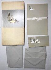Elegant Vintage Stationary Box Set With Envelopes Unused Embossed Beautiful