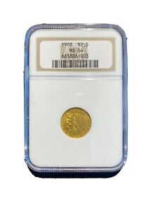 1908 $2.5 MS 64 Gold Indian