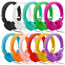 Kids Over Wired Ear Headphones Headband Kids Girl Earphones Pink for iPad Tablet