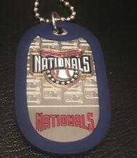 MLB WASHINGTON NATIONALS Baseball Logo **NEW** DOG TAG Necklace WORLD SERIES!!