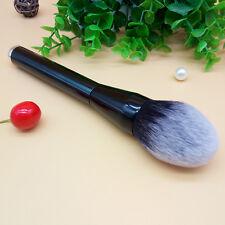 Pro Cosmetic vegan Hair Face Powder Blush Foundation Makeup Rattan Brush Black