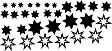 Personalised Star Sticker Pack for Pushchair Bugaboo Quinny iCandy Baby Kids