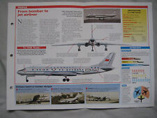 Aircraft of the World Card 71 , Group 2 - Tupolev Tu-104/Tu-124