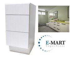 """15"""" European Style 3 Drawer Bathroom Vanity White Crocodile Pattern in Plywood"""